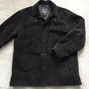 J. Crew men's suede leather coat